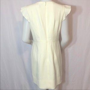 Ann Taylor Flutter Sleeve Sheath Dress